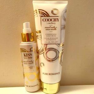 PureRomance Love Story Coochy & Fragrance Mist Set